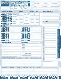 IZ: Editable character sheet